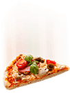 Imagen de una pizza cayendo