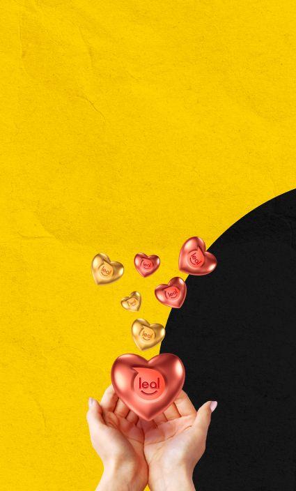 Banner con la imagen de una mano sosteniendo corazones